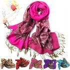 Korean Women Long Large Soft Floral Colorful Scarf Shawl Tassel Scarf Wrap Shawl 6 colors 9627