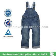 100% cotton kids denim dungarees overalls
