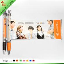 Customer logo advertising pvc flex banner ball pen