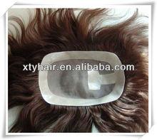 super cheap hair fine mono toupee for black men