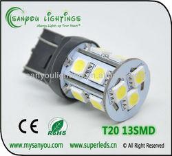 T20 Auto 12V LED Bulbs 13SMD 5050 Brake Light Tuning Light