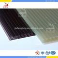 plástico de proteção da parede material de bronze folha de policarbonato lexan janela toldos
