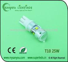 t10 auto led lamp, t10 25w cree led high power,auto car led lighting
