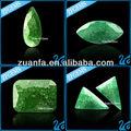 مكعب زركونيا الأحجار الكريمة حجر الزمرد الأخضر الجليد السعر