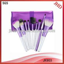 9pcs natural hair make up brush set/natural make up brush set