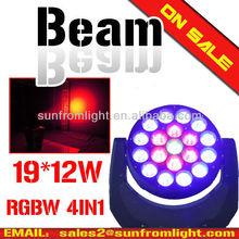 beam moving 19 12W LED