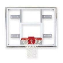 "Gared 48"" x 72"" Aluminum Framed Glass Basketball Backboard"