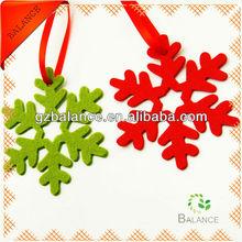 2014 popular personalized snowflake shaped felt ornament