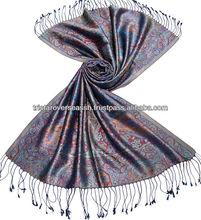 100% antiguas de seda chal