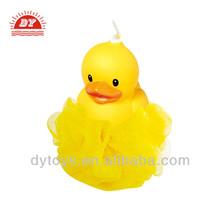 3D custom plastic soft yellow duck bath toys