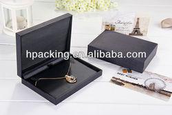 black necklace box jewelry gift box with PU inlay