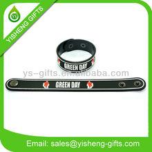 Custom Logo Rubber Bracelet