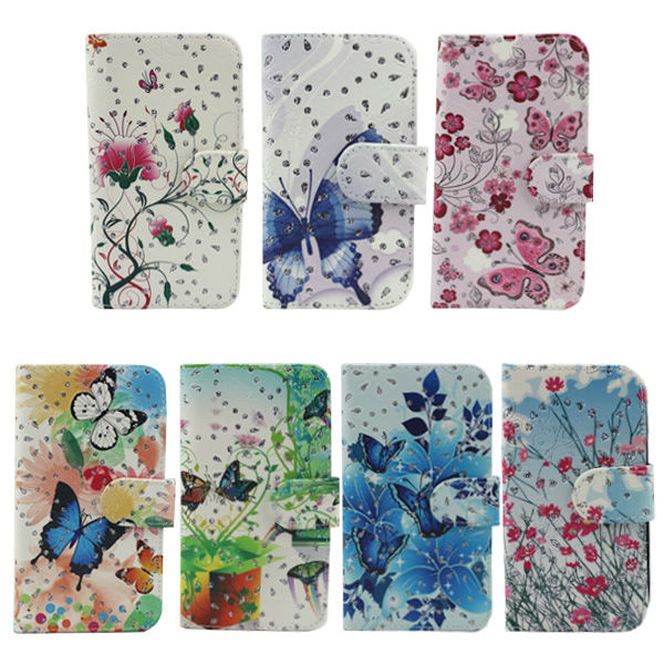 low small bling flowe printing cover flip leather case for xiaomi mi3 m3