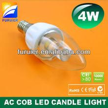 SAA C-tick CE COB ceramic 4w led candle light