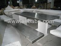heavy duty steel & stainless steel prison dining table