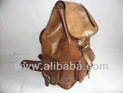 Goat leather Backpack School Bag Vintage leather Backpack
