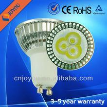 Ce& rohs eco- ambiente 6w bombilla led gu10 con 3 años de garantía