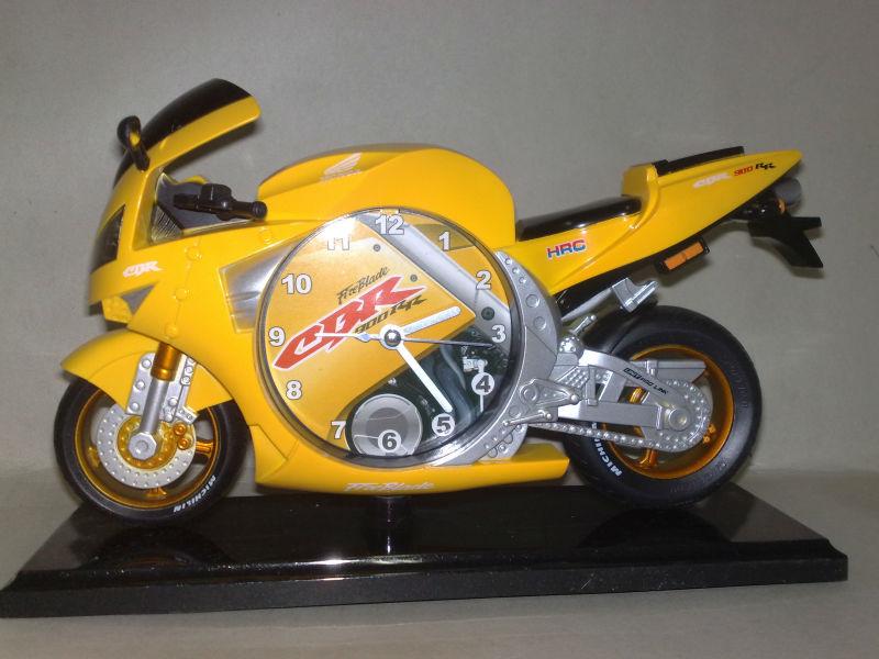 motorcycle desk clock