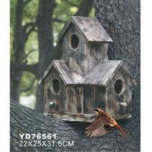 Antique wooden bird house