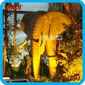 fibra de vidro antigo bronze estátua do elefante para a exposição