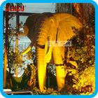 Antique fiberglass bronze elephant statue for exhibition