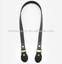 Black color retro handbag genuine leather bag handle diy bag parts