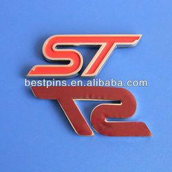 enamal logo car emblem/car badge with 3mm adhesive