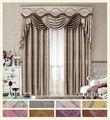 cortina doble de botín con cenefa