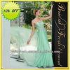 Hot Sale Long Good Quality Chiffon Beaded Sweetheart Long Mint Green Prom Dress