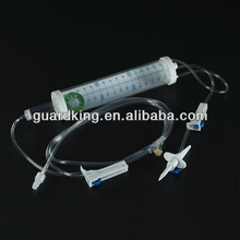 IV infusion set with burette