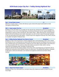 4D3N Kuala Lumpur City Tour + Fullday Genting Highlands Tour