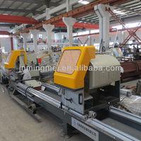 automatic double head aluminum cutting saw machinery for aluminium window door fabrication