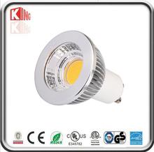 3w 5w 7w g5.3 mr16 gu10 cob spotlight aluminium warm white color