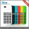 6 colors hot Slim Dotted soft Rubber silicone case for apple iphone 5c,for iphone 5c case produced by China manufacturers