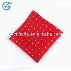 Men's 100% Polyester Polka Dots Red Handmade Hanky 2013