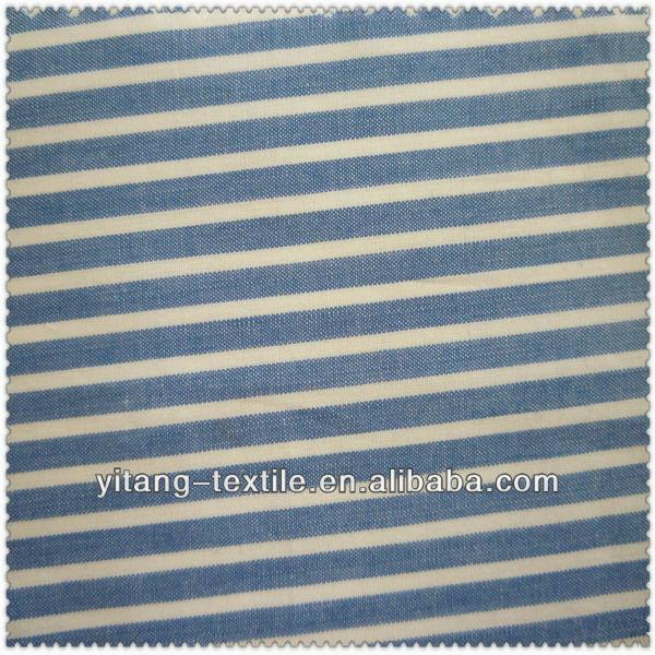 Fabric cotton blue and white stripe