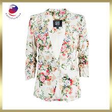 flower printed saree blouse hand designs