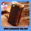 Wholesale Luxury Metal Frame Cover For Iphone 5/5S Metal Wood Case Bumper Hard Back Cover 2 In 1