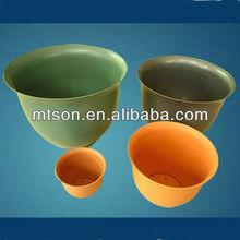 Different types of plastic flower pot trays rectangular for garden using