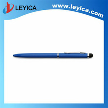 Personalised pens slim metal twist ballpoint pen with stylus touch screen tip - LY-S016