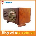 2014 portable retro wooden FM/AM radio with usb/sd /MMC slot