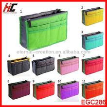 2014 Hot Selling New Arrival Wholesale Travel Nylon Bag Organizer Bag in Bag Travel Handbag organizer for Promotion