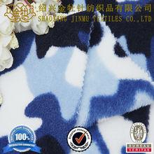 2015 new style army camouflage print polar fleece fabric