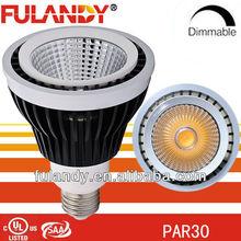 DLC/ES/UL - LED PAR38 COB - Long Neck - 24w cob par38 - 120/277 Volt - led par38 e26- 80 Watt Halogen Equal