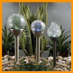 2015 Hot Products China Wholesale Solar Crackle Ball Light Solar Garden Light