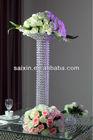 wedding decoration crystal pillar flower stand