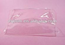 Clear plastic pvc transparent bag with zipper