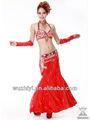Alta qualidade novo tribal na índia sexy dança do ventre desgaste, vermelho de dança do ventre roupas, vestido de desempenho para o sexo feminino dancer( qc00203)