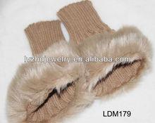 knitted fur gloves LDM179