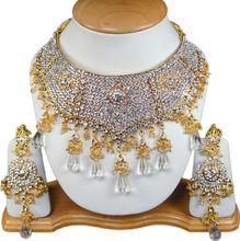 Wedding Bridal Tons of Beautiful Shining Zircons Necklace Jewelry Set S12 White